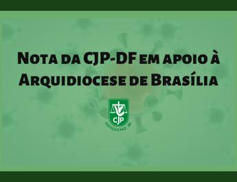 CJP-DF apoia as medidas tomadas pela Arquidiocese de Brasília em razão da crise do COVID-19