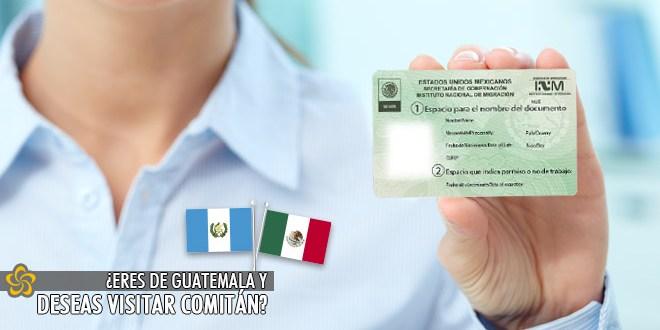 Eres de Guatemala y quieres visitar Comitán