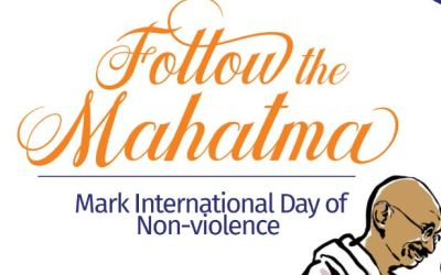 International Day of Non-violence (Sept 30 – Oct 5, 2018)