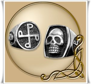 Phantom skull ring and P ring