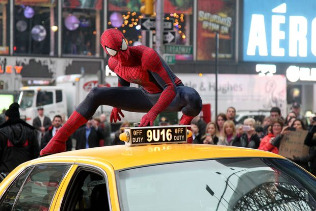 "Spider-Man delivers the debut trailer for Columbia Pictures' ""The Amazing Spider-Man 2,"" starring Andrew Garfiled and Emma Stone."