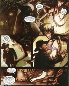 ASYLUM #11 pg. 11 panels 1-4