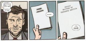 MAYDAY #4 pg. 28 panels 5-7