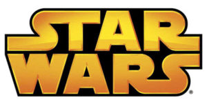 Star Wars logo - thick gold, black interior on white