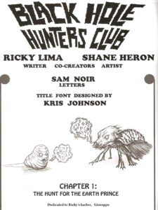 BLACK HOLE HUNTERS CLUB #1 credits