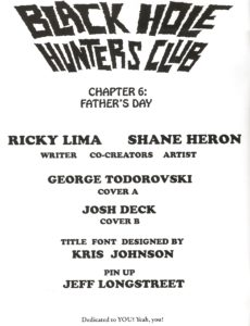 BLACK HOLE HUNTERS CLUB #6 credits