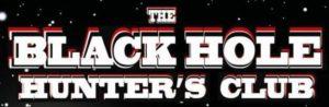 BLACK HOLE HUNTERS CLUB original logo B&W