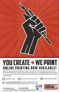 Guerilla Printing ad