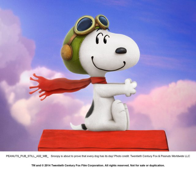 PEANUTS PUB STILL A02_WB_: Snoopy is about to prove that every dog has its day! Photo credit: Twentieth Century Fox & Peanuts Worldwide LLC