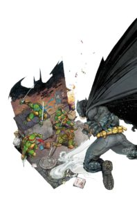 BATMAN • TNMT #1 Captain's Comics and Toys exclusive Kenneth Rocafort cover