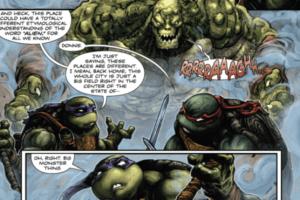 BATMAN • TNMT #1 Croc meets Turtles