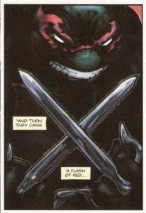 BATMAN • TNMT #1 Raph close-up