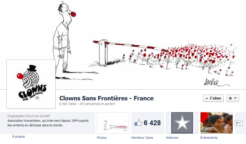 Couverture facebook lowns sans frontières