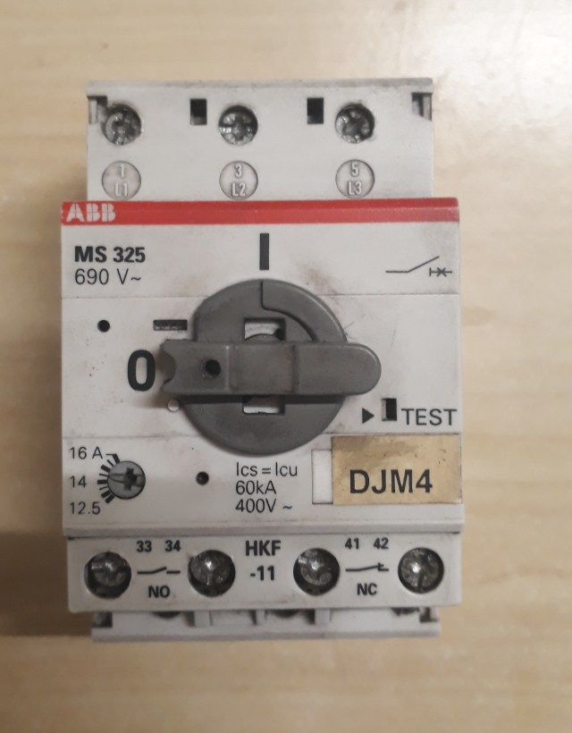 Disjuntor Motor Abb Ms325
