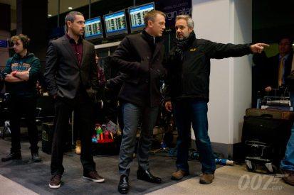 Ola Rapace, Daniel Craig et Sam Mendes
