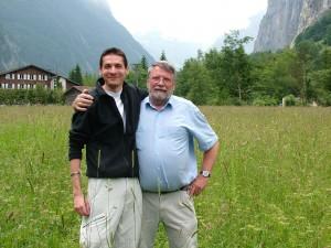 L'auteur Pierre Hirsinger dans la Suisse Bondienne