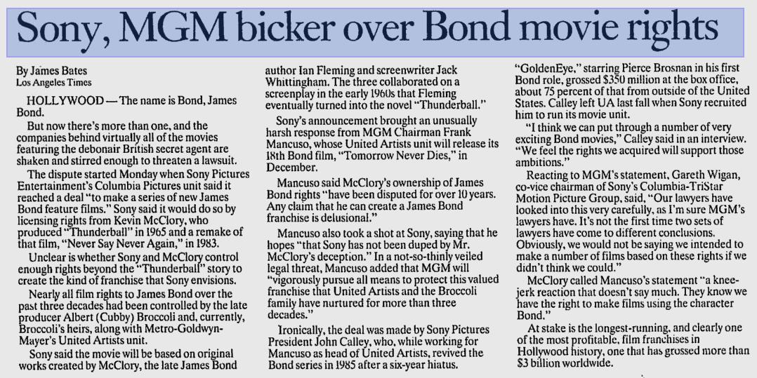 Extrait du numéro du 14 octobre 1997 de The Spokesman-Review.