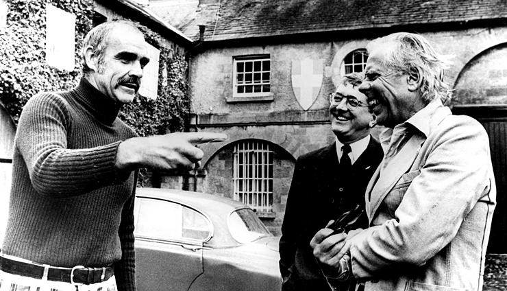 Sean Connery, Len Deighton et Kevin McClory en 1978.