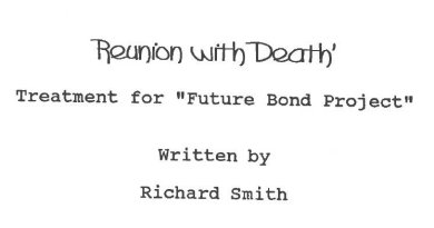 Reunion with Death : le scénario écrit par Richard Smith