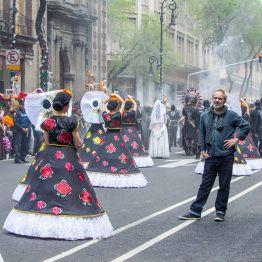 Sam Mendès sur le tournage de SPECTRE à Mexico