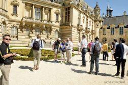 Un autre évènement du Club en 2015 : l'accueil d'un Fan Club allemand au château de Chantilly Photo : © Jessy Conjat