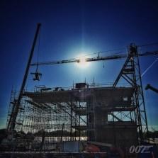 Construction d'un décor aux studios Pinewood