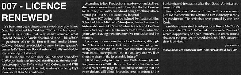 Extrait du numéro d'août 1993 de Film Review