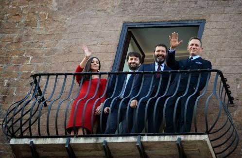 Monica Bellucci, Dario Franceschini, Ignazio Marino et Daniel Craig