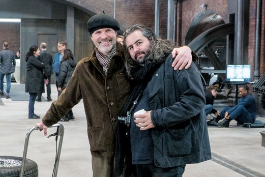 Production Designer Dennis Gassner (left) and DP Hoyte Van Hoytema on the set of Metro-Goldwyn-Mayer Pictures/Columbia Pictures/EON Productions' action adventure SPECTRE.