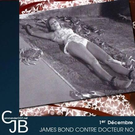 La fameuse scène de James Bond contre Docteur No, qui aurait du nous montrer Honey Rider face au supplice de crabes géants. Les crabes en question étaient hélas presque morts de congélation lors de la scène qui sera supprimée. Dommage, pour une idée originale venant du livre de Fleming. http://www.commander007.net/1962/10/docteur-no-les-scenes-coupees/