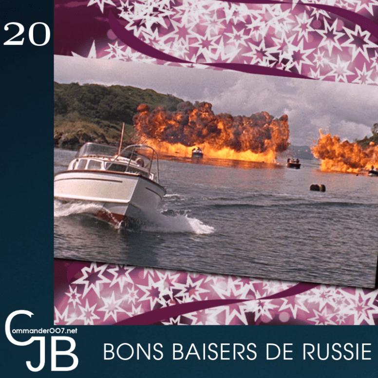 """La fin du tournage de Bons baisers de Russie a été un vrai casse tête. Pour la poursuite en bateau, l'hélicoptère dans lequel était le réalisateur Terence Young s'est élevé à une dizaine de mètres avant de tomber en piqué et en chute libre, dans le lac. Le responsable des effets spéciaux, John Stears, raconte : """"nous avons sauté à l'eau pour les secourir. Quand nous sommes arrivés au fond, à près de 15 mètres, ils étaient dans la bulle en Plexiglas de l'hélico. Il leur restait un peu d'air mais pas beaucoup. Terence donnait des coups de pieds dans la bulle pour sortir, parce qu'ils ne pouvaient as passer pa la porte de gauche, bloquée par la plateforme de la caméra. """"Heureusement, mes cigarettes sont sèches"""" déclare Terence en sortant de l'eau"""". il saignait un peu des jambes, il s'est retourné et a dit """"maintenant, le plan suivant"""". 35 minutes après, le tournage reprenait. Source : The James Bond Archive"""