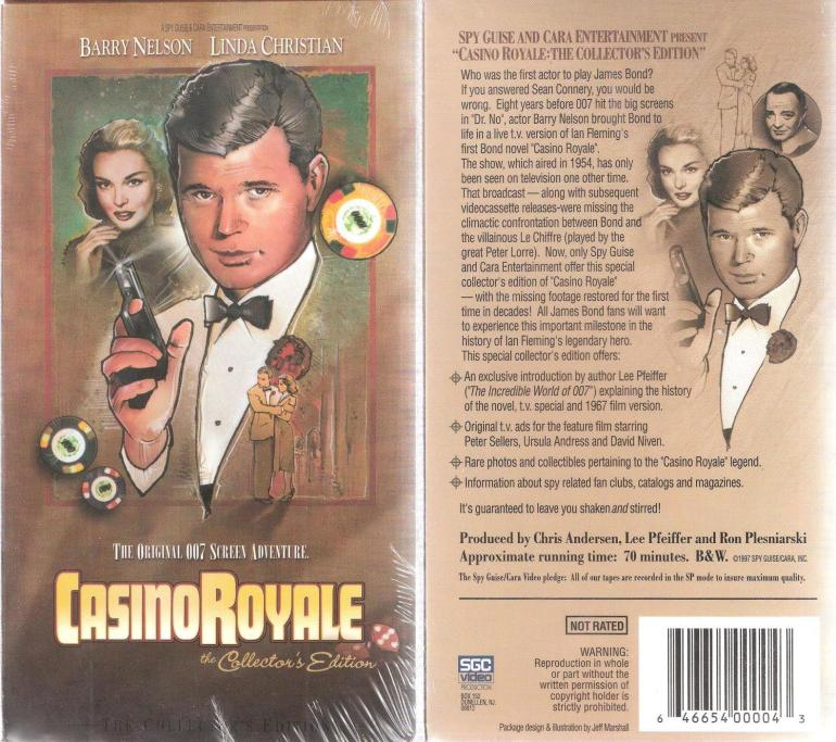 La couverture de la VHS de Spy Guise, illustrations signées Jeff Marshall.