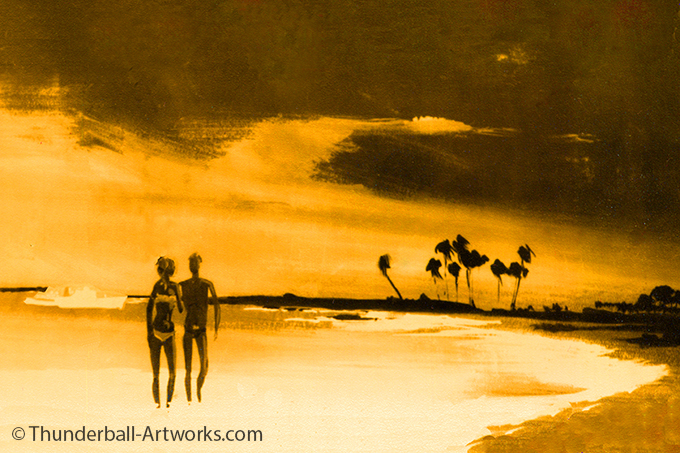 Thunderball original work Beach flame