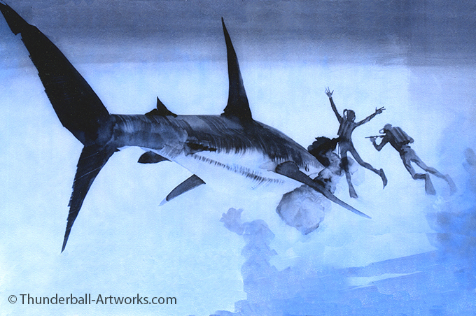 Thunderball original work Shark Blue online