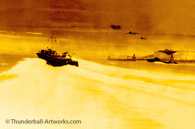 Thunderball original work Speeding boat online