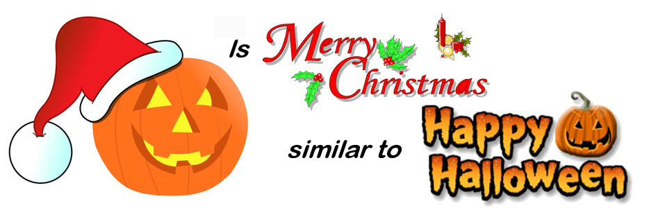 Image result for christmas and halloween similarities images