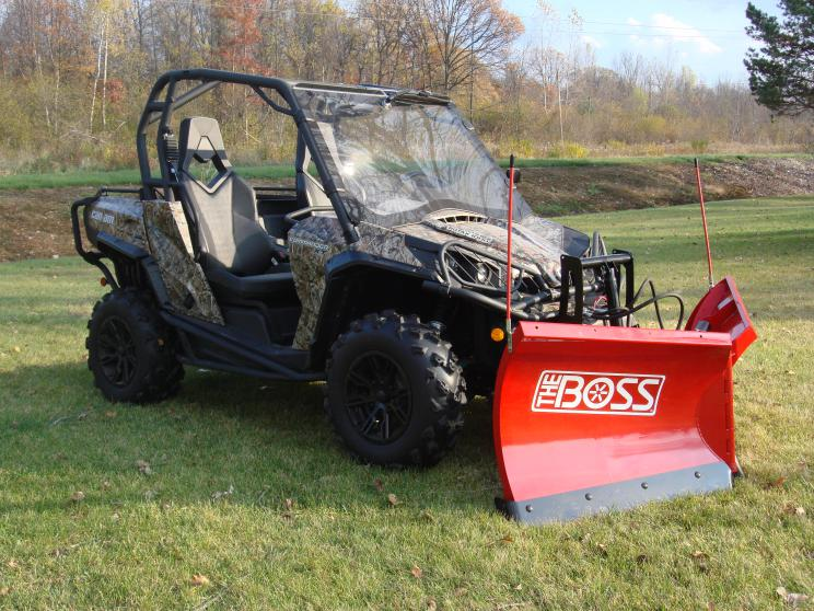 BOSS Plow Installed Can Am Commander Forum