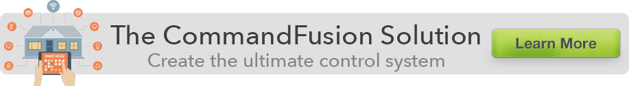 The CommandFusion Solution. Create the ultimate control system. Learn More.