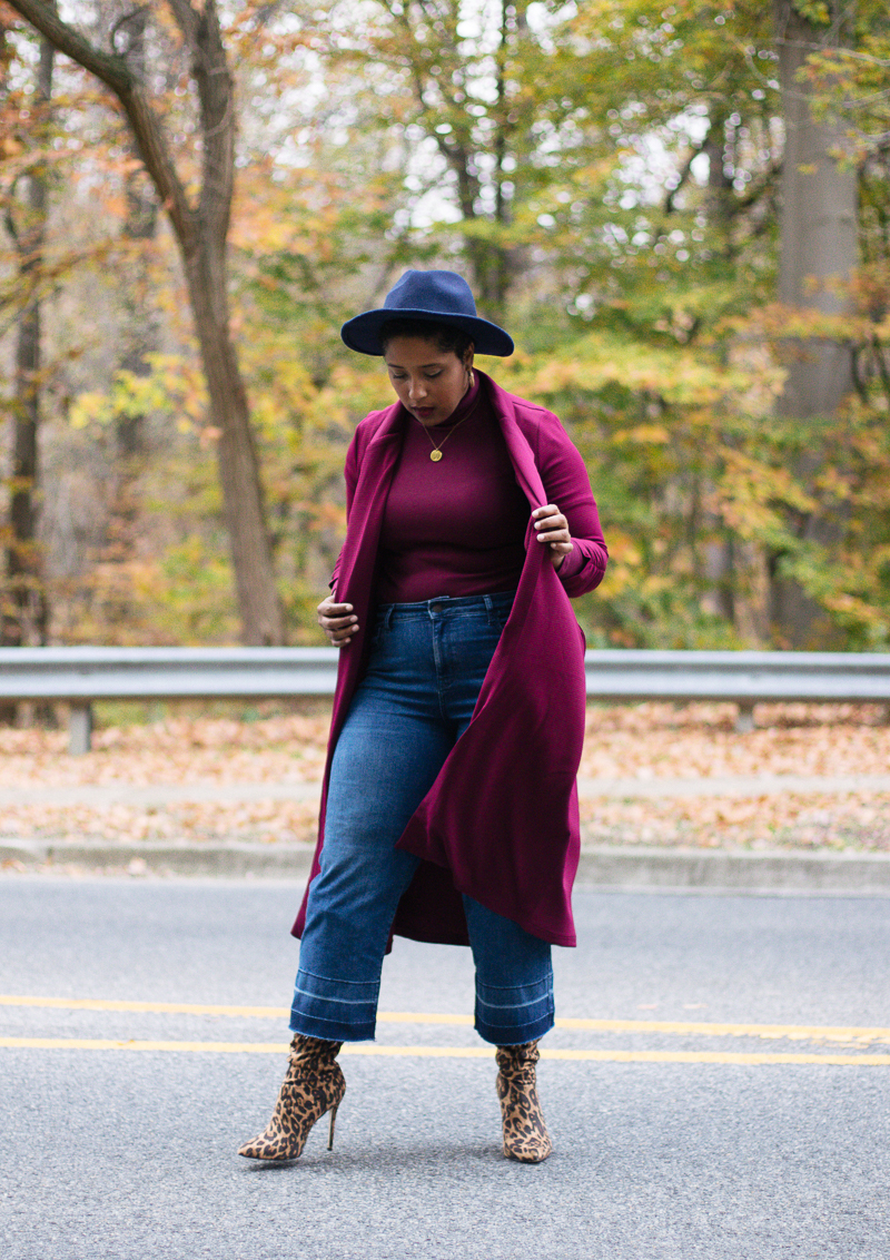 Top DC curvy style blog wearing fall trends leopard-10