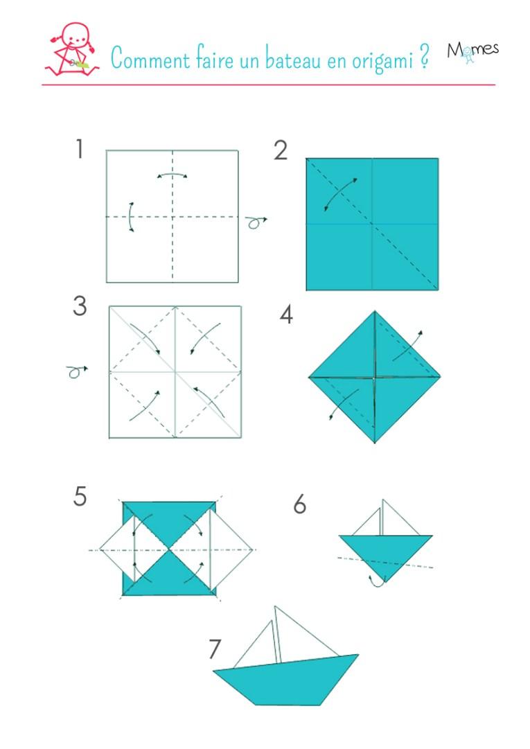 Bateau-en-origami