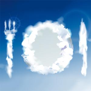 Assiette en nuage