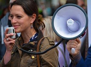 Mégaphone prendre la parole en public