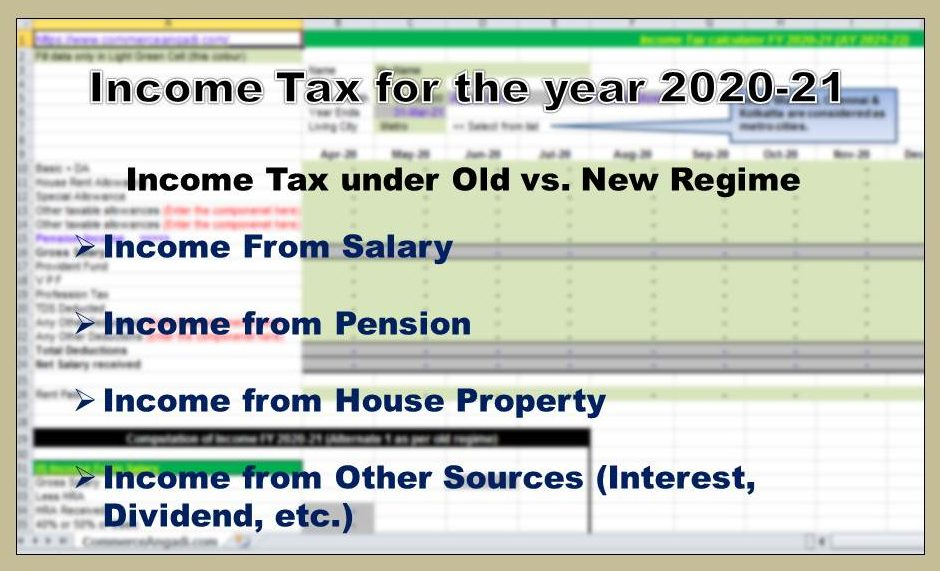 Income Tax Calculator For Fy 2020 21 Ay 2021 22 Excel Download