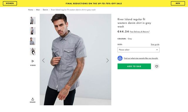 Asos makes it clear at a product level that it offers free delivery