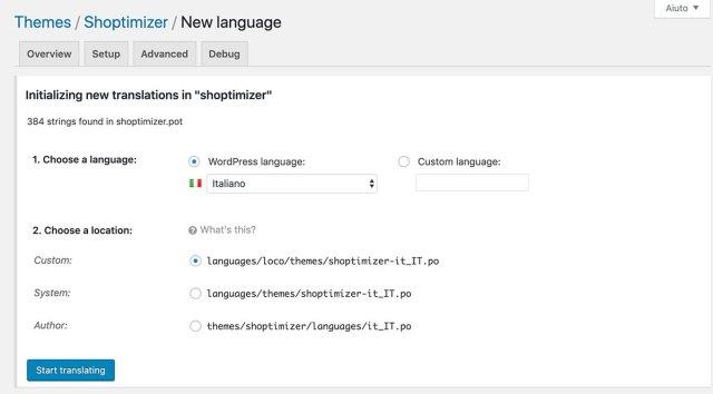 Initialize new translations