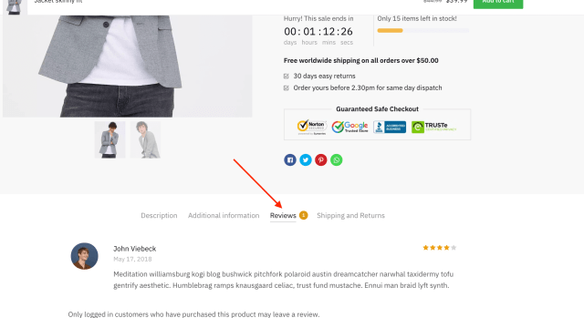 WooCommerce Customer Review