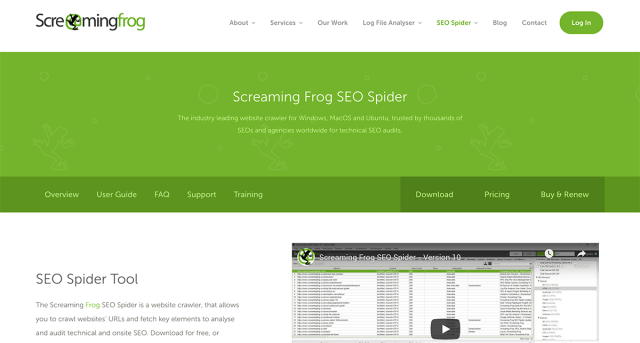 SEO Spider Tool from Screaming Frog