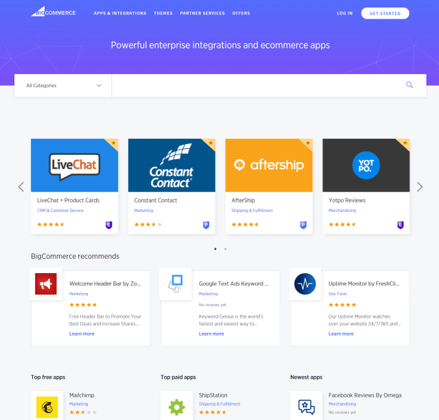 BigCommerce review of apps