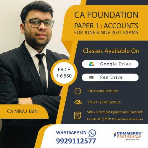 CA Foundation Paper 1 - Accounts