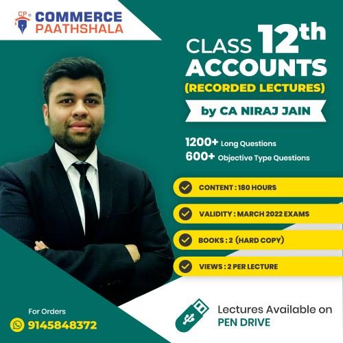 Class 12th Accounts Pen Drive Course